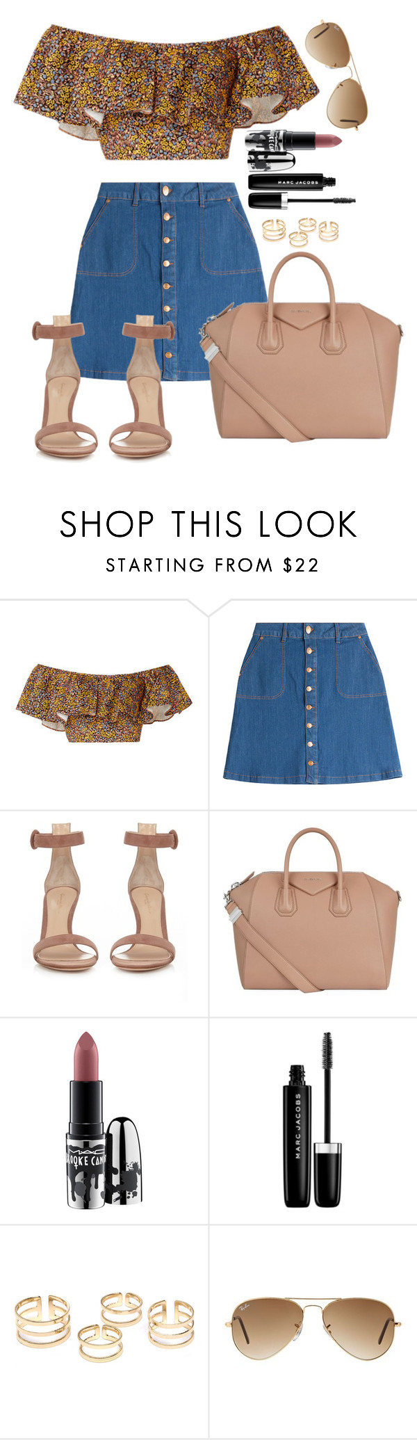 """""""Untitled #1518"""" by fabianarveloc on Polyvore featuring Philosophy di Lorenzo Serafini, HUGO, Gianvito Rossi, Givenchy, MAC Cosmetics, Marc Jacobs and Ray-Ban"""