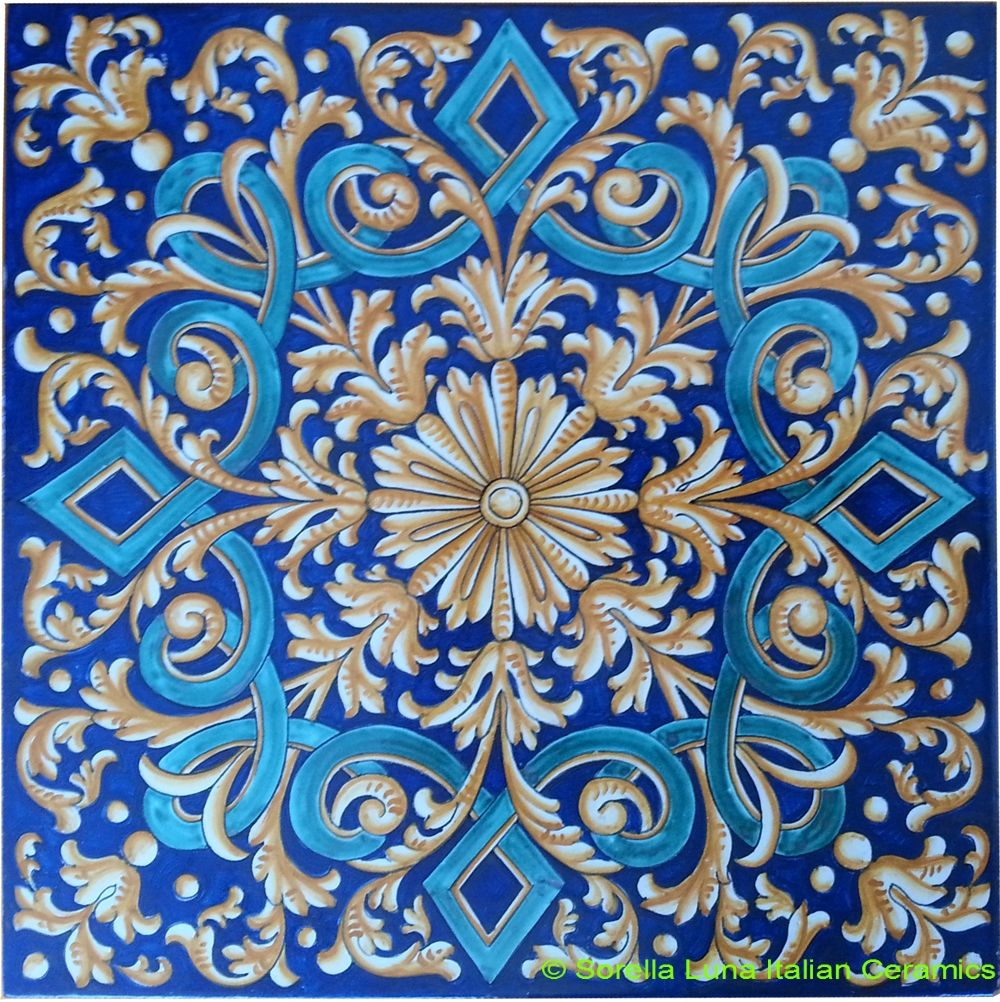 Hand painted italian ceramic tiles azulejos pinterest mosaics hand painted italian ceramic tiles dailygadgetfo Choice Image