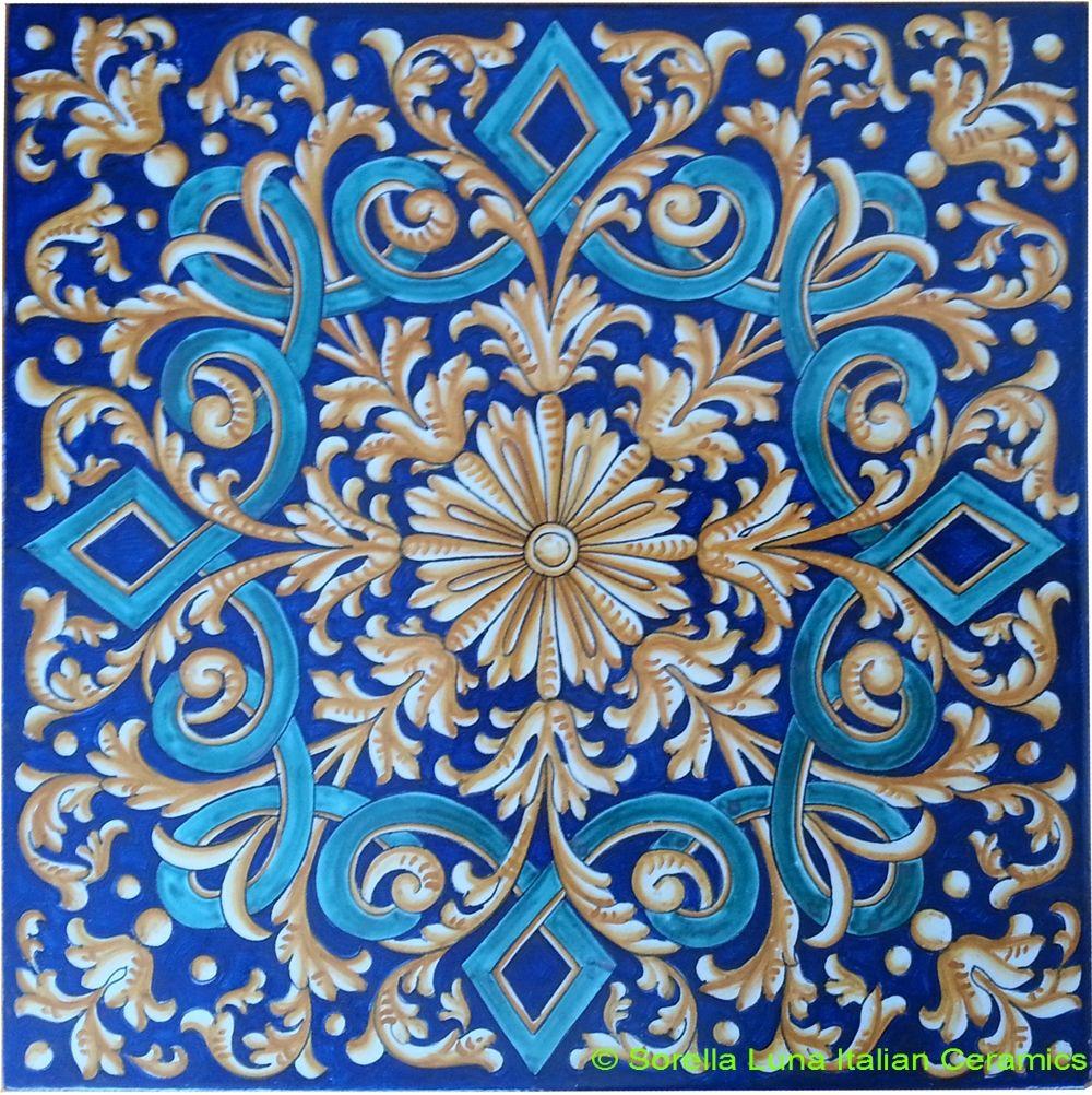 Hand painted italian ceramic tiles italian ceramics pinterest hand painted italian ceramic tiles dailygadgetfo Images