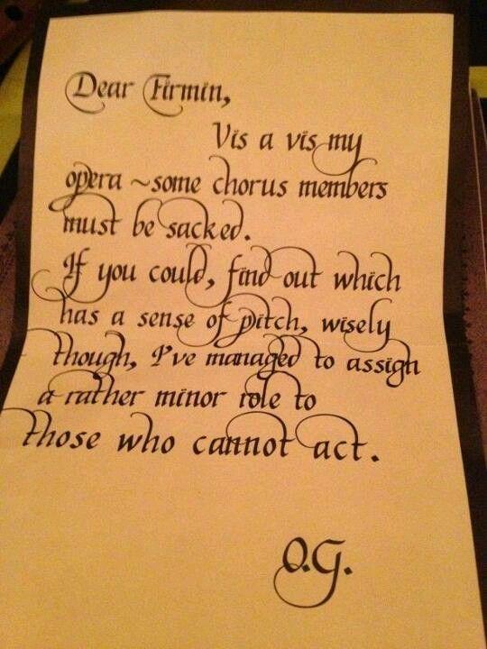Notes from Phantom of the Opera   Music   Phantom of the
