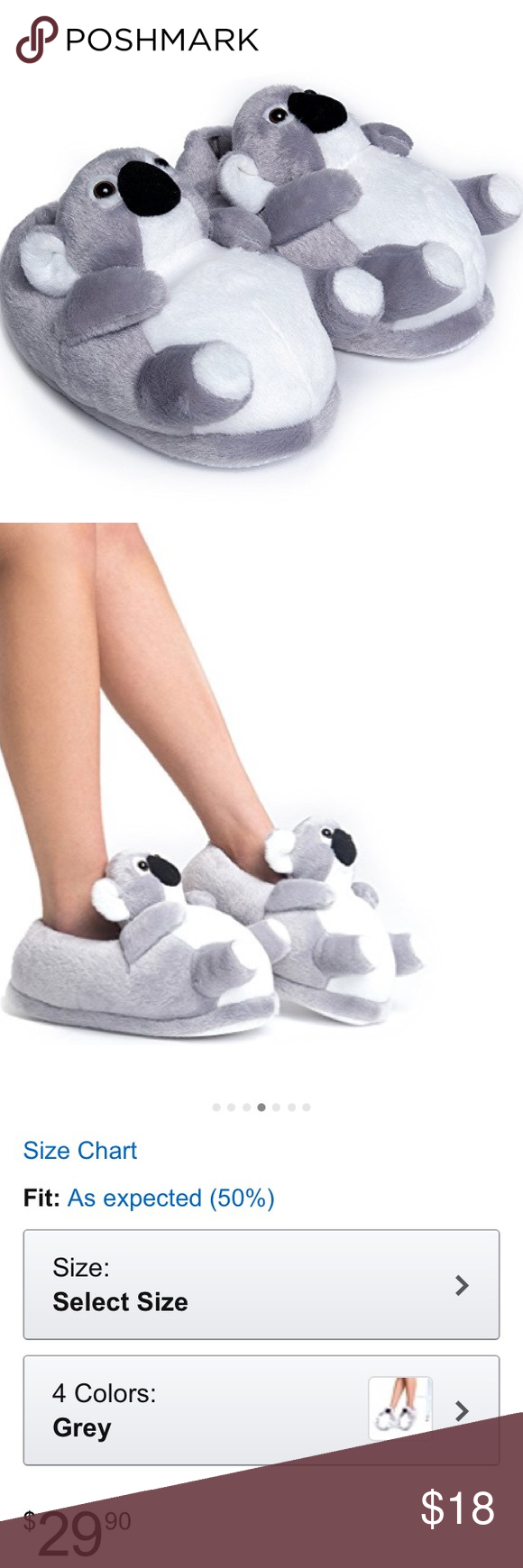 Koala kids slippers L/XL US 3.5-6 kids youth This comes with his brand-new koala bear slippers. They are a size large/extra large. They cost $30 on Am@zon. It says A youth large/extra large is good for US 3 1/2 up to size 6 in kids. cute to the core Shoes Slippers