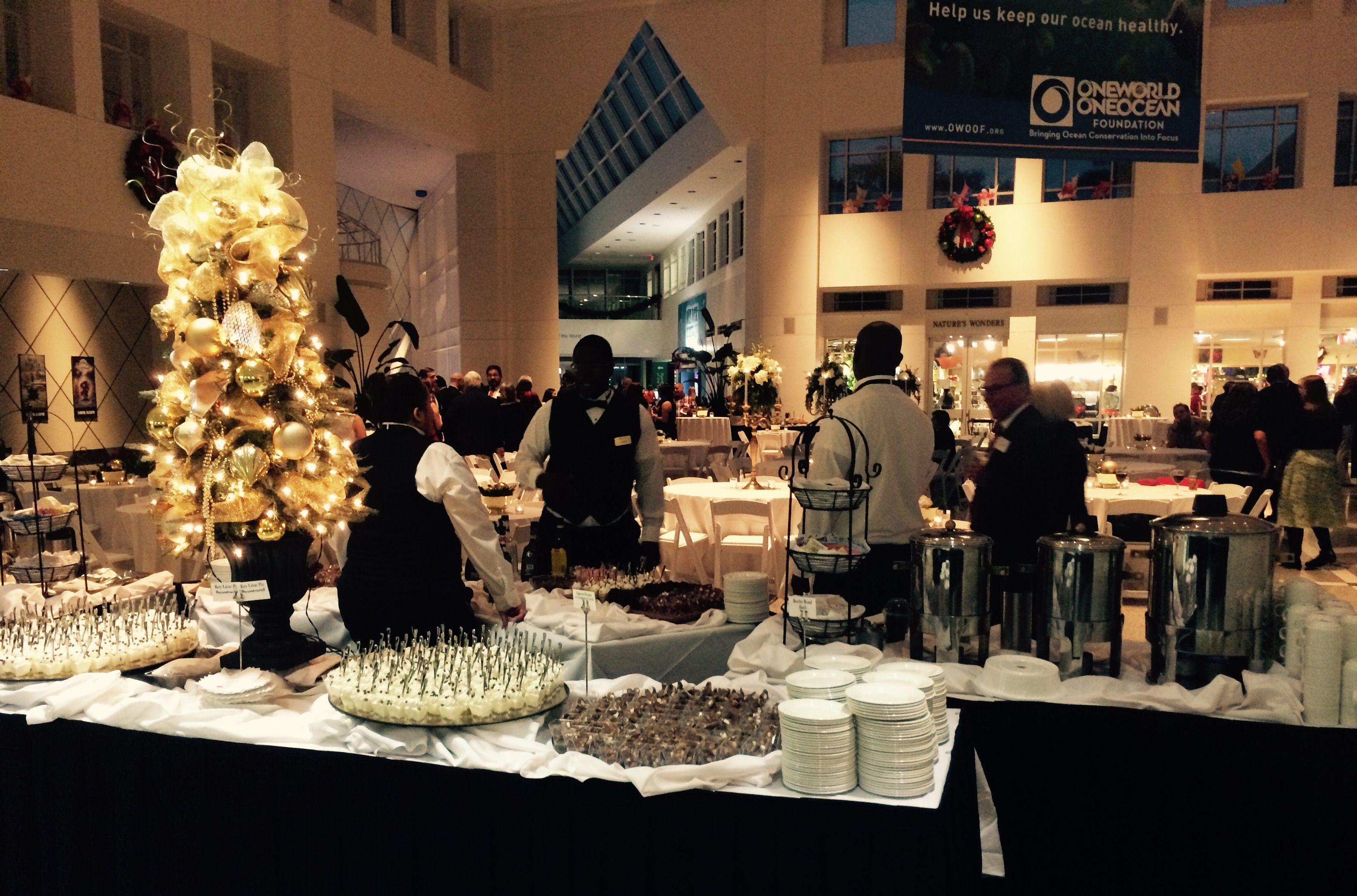 A Christmas Party at the Moody Gardens visitor Center - Galveston ...