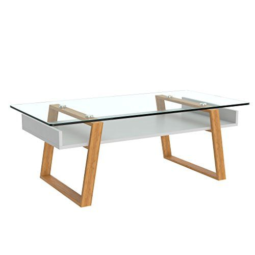 417522f79a0527 bonVIVO Designer Coffee Table Donatella, Modern Coffee Table For Living  Room, White Coffee Table