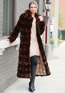 Mahogany Mink Couture Full-Length Faux Fur Coat | Donna Salyer's ...