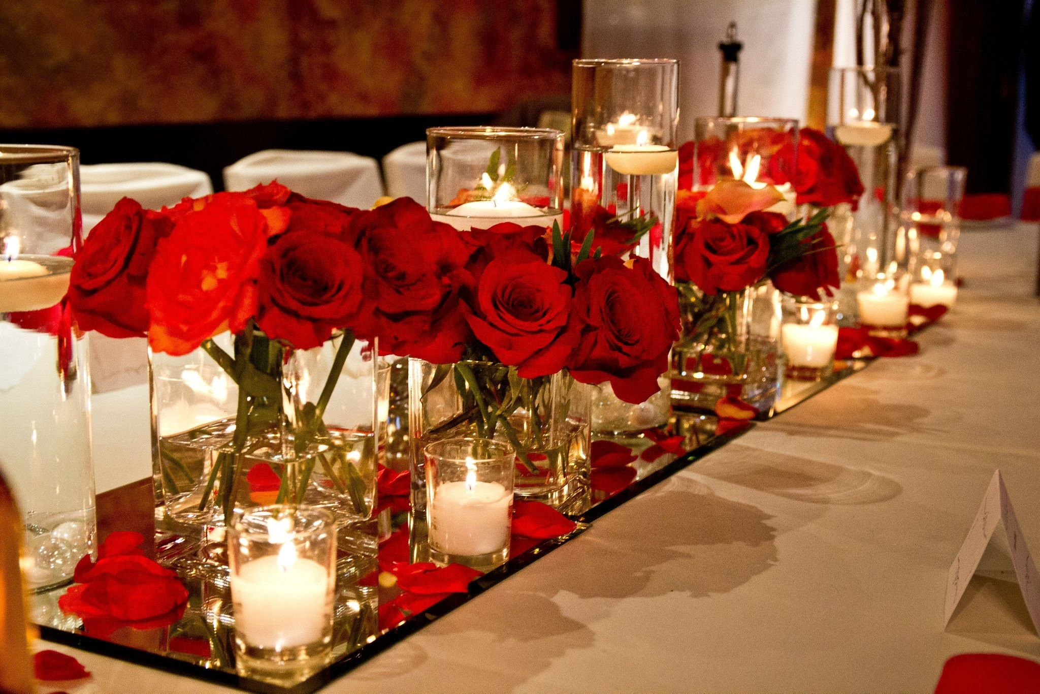 Red rose centrepiece | Centrepieces | Pinterest | Red rose ...