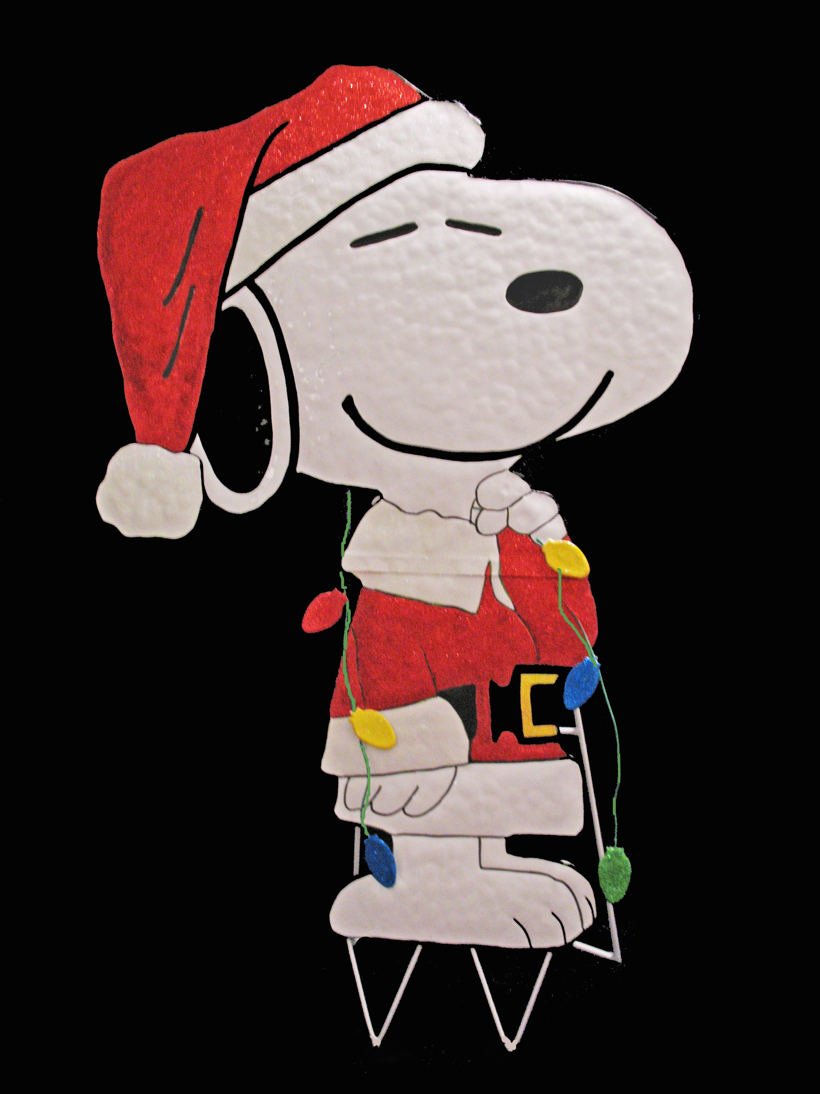 Snoopy outdoor christmas decorations - Peanuts Gang Hammered Metal Christmas Yard Art Snoopy Santa Christmas Yard Artoutdoor Christmas Decorationssnoopy