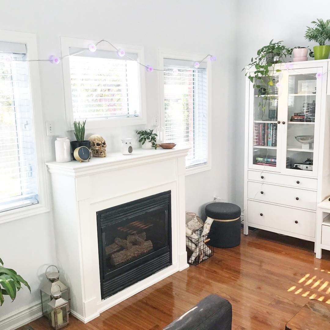 White Fireplace Mantel And Ikea Hemnes
