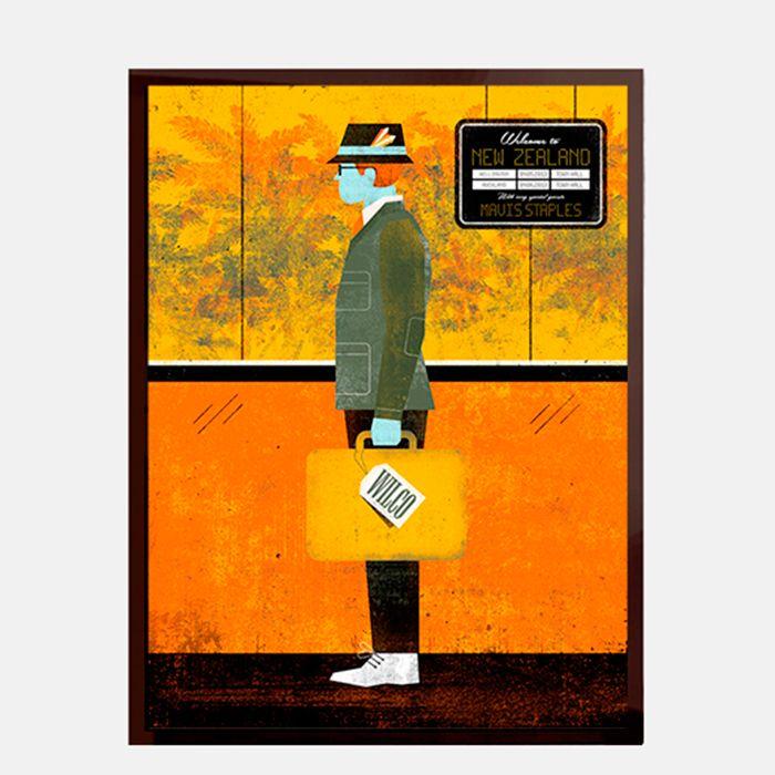 Cartel Wilco - - Enmarcado en vidrio con marco de madera negro http ...
