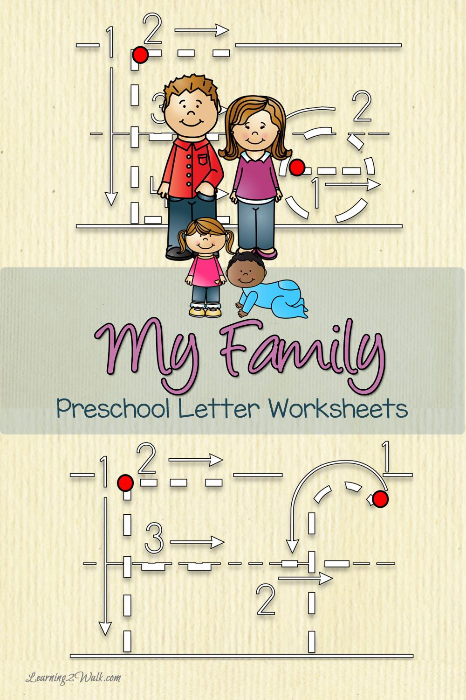 My Family Preschool Letter Worksheets   Vorschule