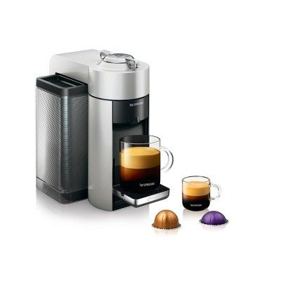Nespresso Vertuo Coffee and Espresso Machine Silver by De'Longhi #espressomaker