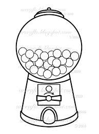 Image result for free printable gumball machine black