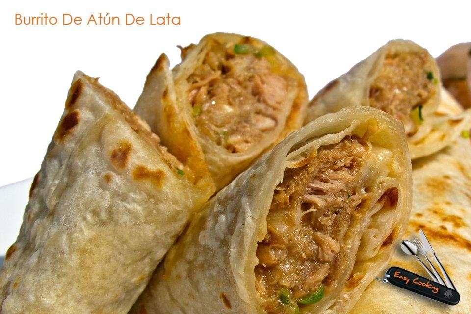 Burrito de at n de lata recetas comida food alimentos for Platos gourmet
