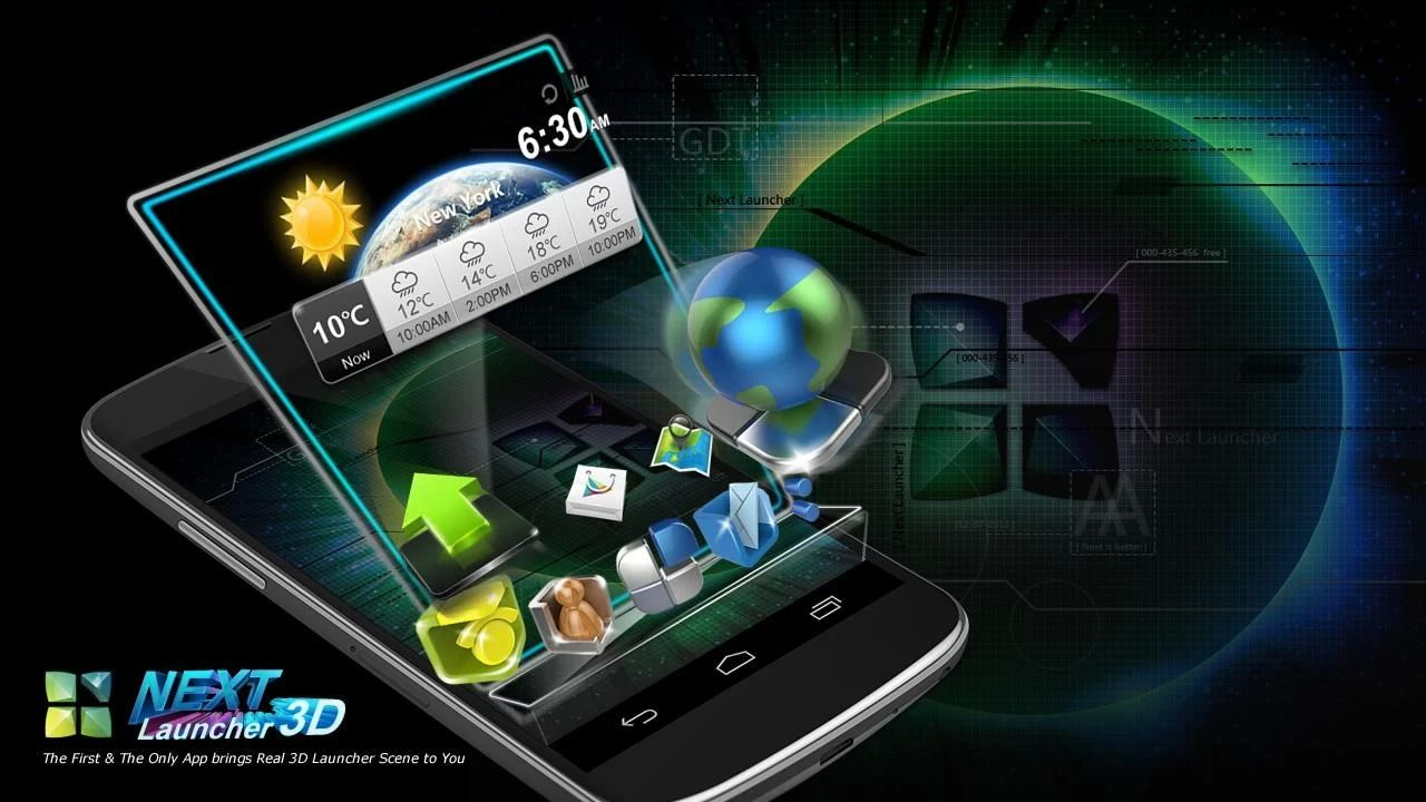 Next Launcher 3D Shell v3.10 APK Android apps, Android