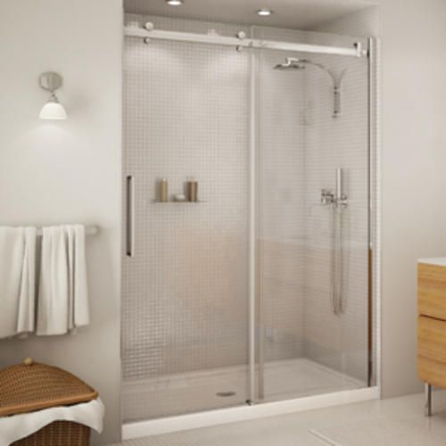 Halo 56 1 2 59 Sliding 2 Panel Shower Door At Menards Shower Doors Sliding Shower Door Glass Shower Doors