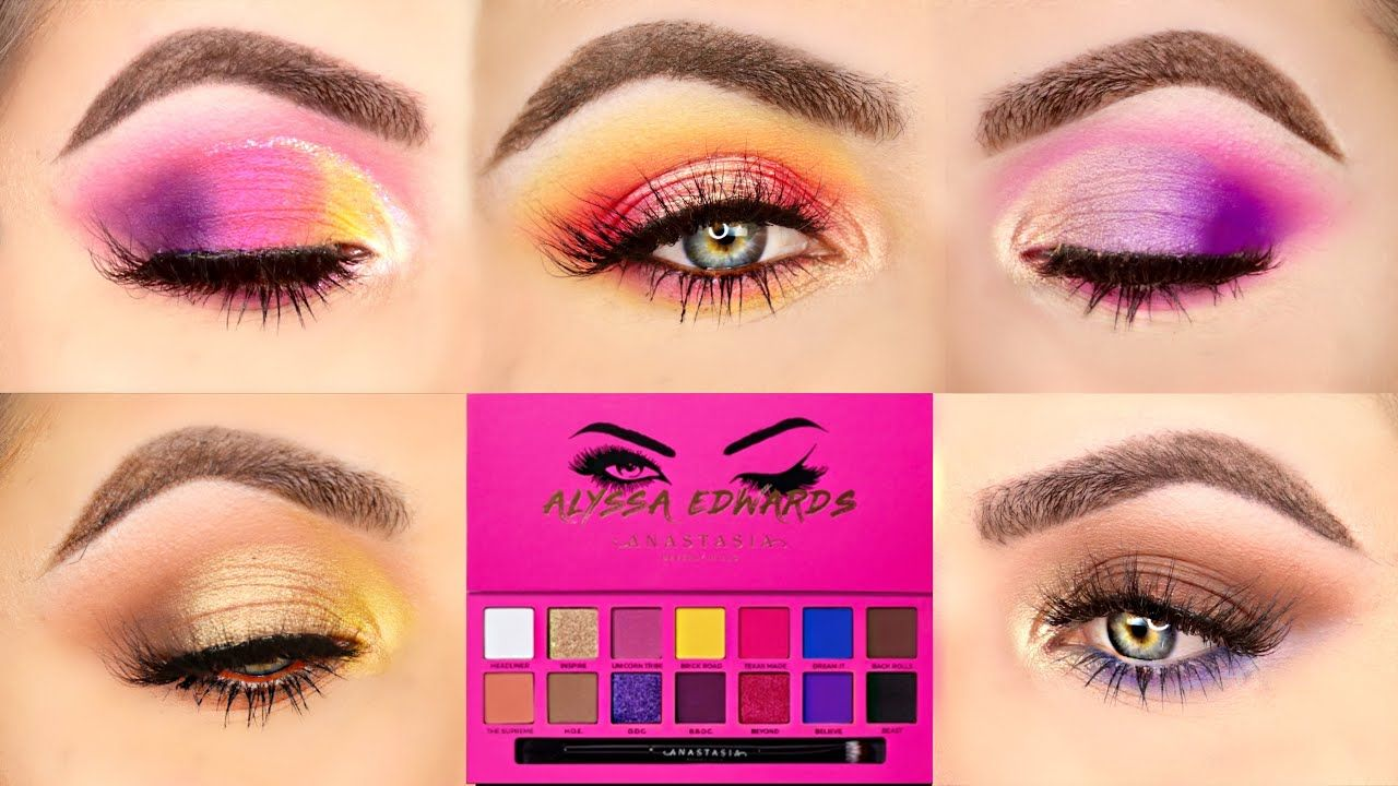 5 LOOKS 1 PALETTE | FIVE EYE LOOKS WITH THE ALYSSA EDWARDS PALETTE BY ANASTASIA! (ABH) |Patty