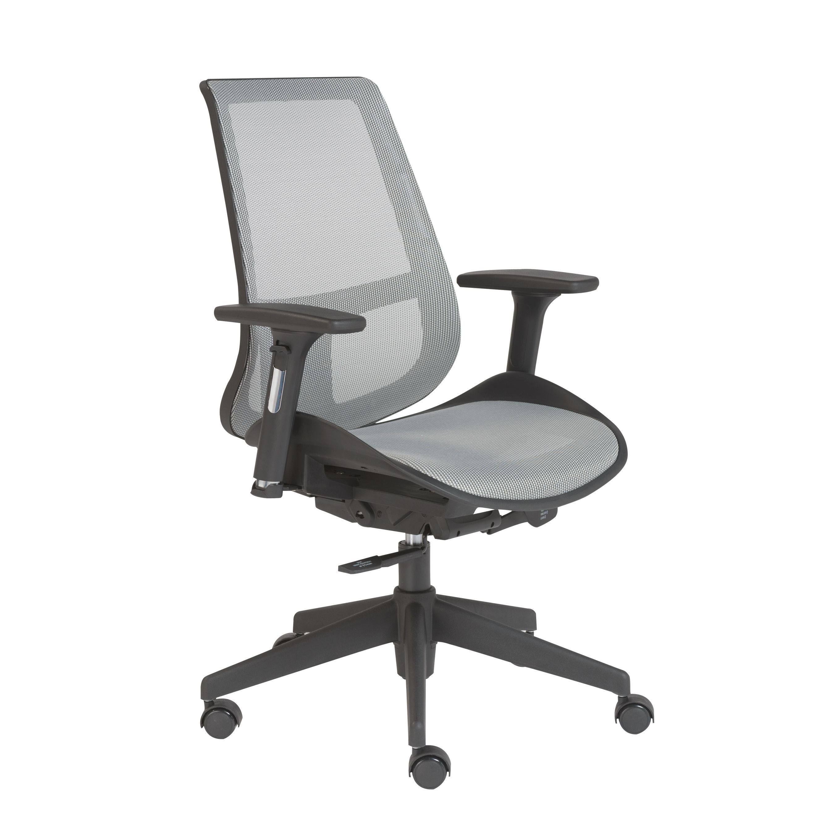 euro style vahn grey mesh office chair gray mesh mesh office