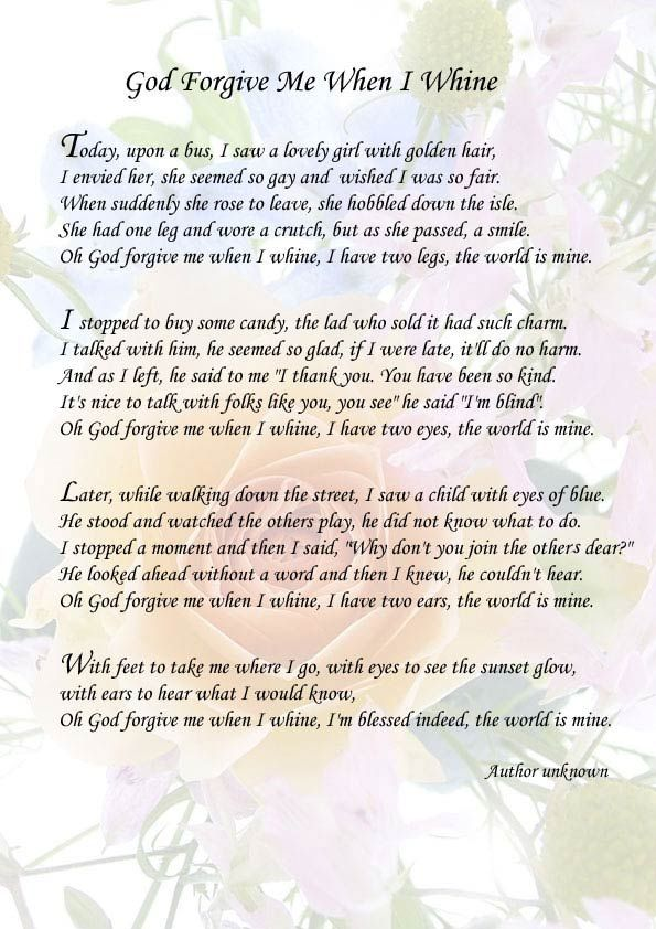Poems On Forgiveness From God | God Forgive Me When I Whine ...