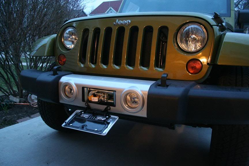 Jeep Jk Stock Bumper Mods Winch Mounts On Stock Jk Bumper Jeep