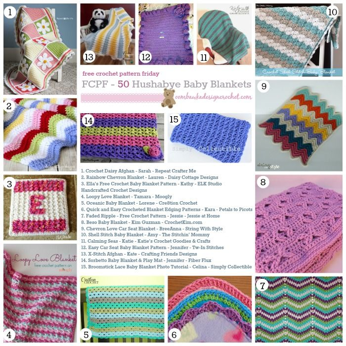 50 Free Crochet Baby Blanket Patterns (FCPF | Cobija, Manta y Colchas