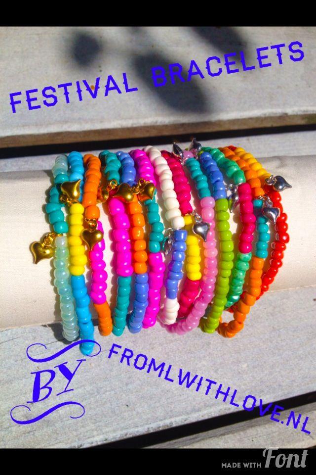 Festival bracelets by www.fromlwithlove.nl
