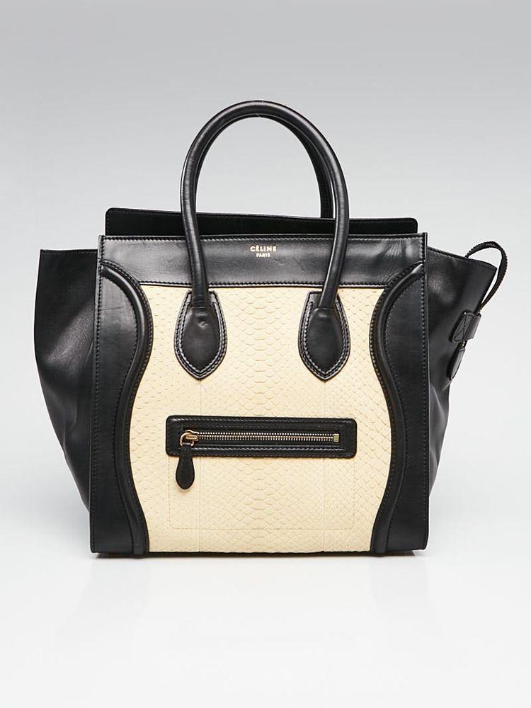 6ccab85141 Celine Beige Black Python Mini Luggage Tote Bag  Celine  EverydayBags