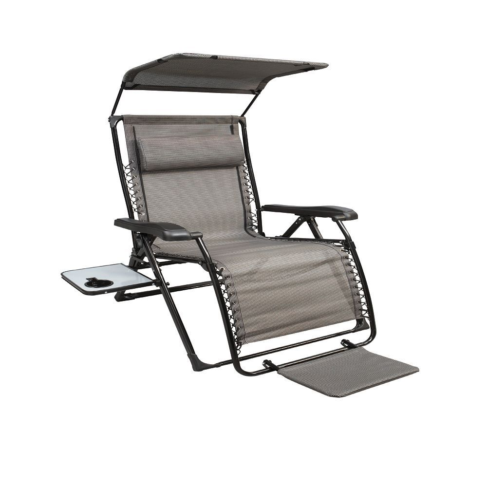 Unbrand Xl Zero Gravity Chair With Canopy With Footrest The Home Depot Canada Zero Gravity Chair Outdoor Zero Gravity Chair Lounge Chair Outdoor