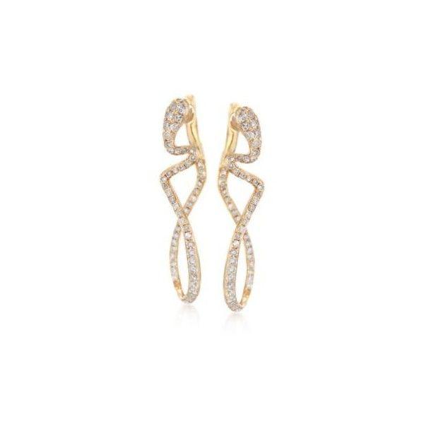 Ross-Simons .71 ct. t.w. Diamond Snake Earrings in 14kt Yellow Gold. 1... (66785…