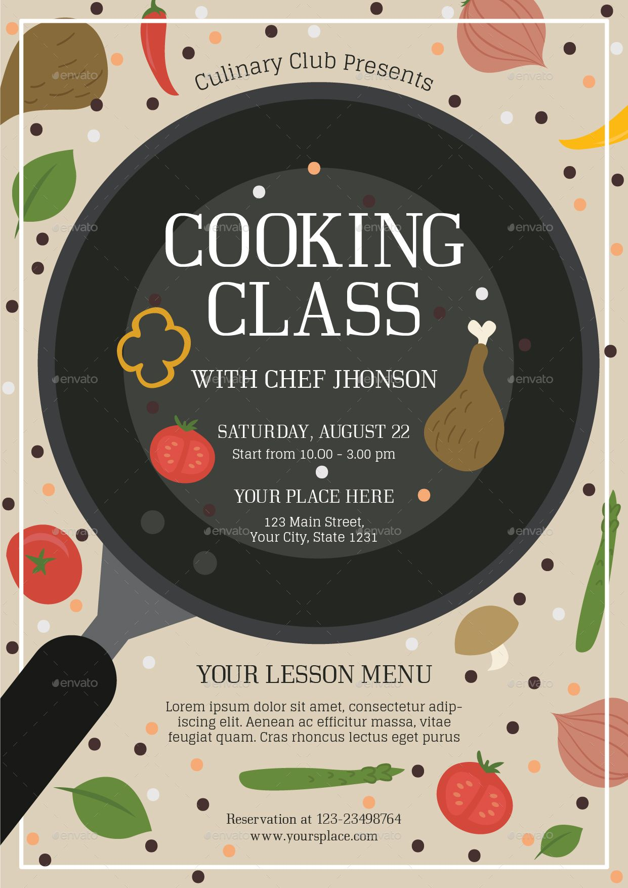 Cooking Class 2 Flyer Template Cooking Classes Design Cooking Classes Cooking Academy Cooking class flyer template free