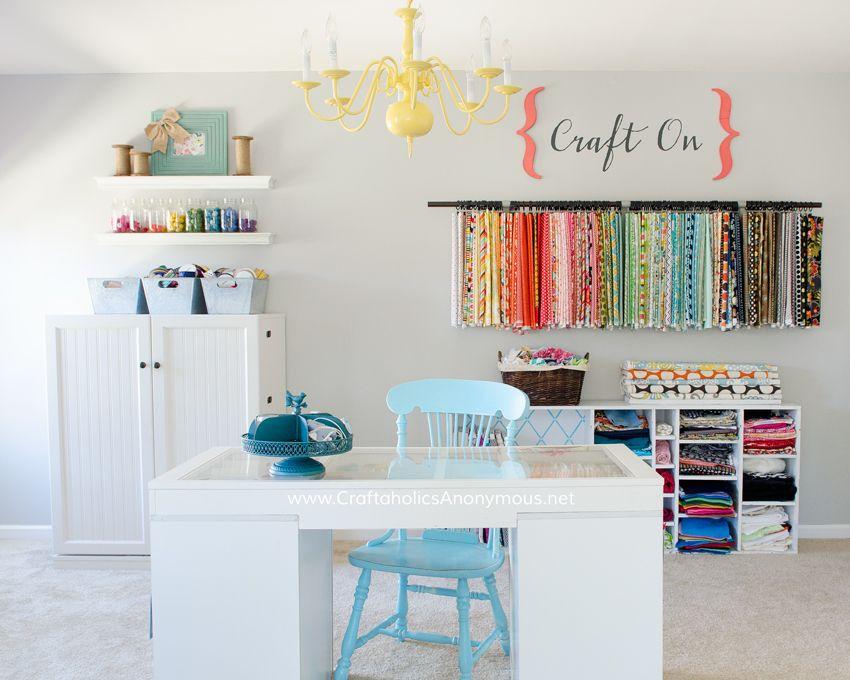 craft room tour - Craft Desk Ideas