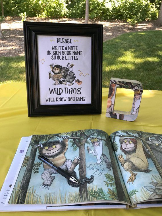 Where the Wild Things Are / Birthday Party / Printable / Digital Download / Please Sign or Leave a note / Book signing