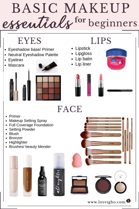 Basic Makeup Essentials For Beginners &Ndash; Love, Igho - Makeup For Beginners