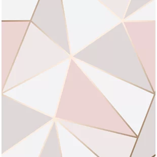 Enid Striped Hexagon 16 5 L X 20 5 W Geometric Peel And Stick Wallpaper Roll Allmodern In 2020 Pink And Grey Wallpaper Rose Gold And Grey Bedroom Rose Gold Bedroom