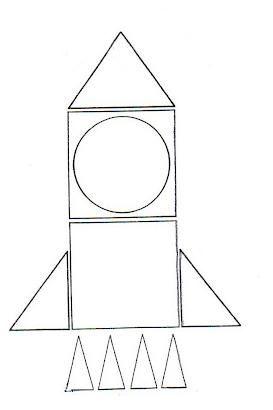 Cohete Espacial Figuras Geometricas Dibujos De Figuras