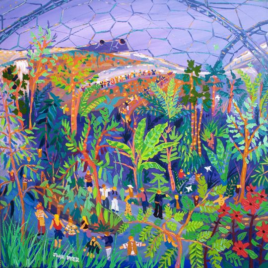 Steaming Around Eden The Eden Project Painted By Their