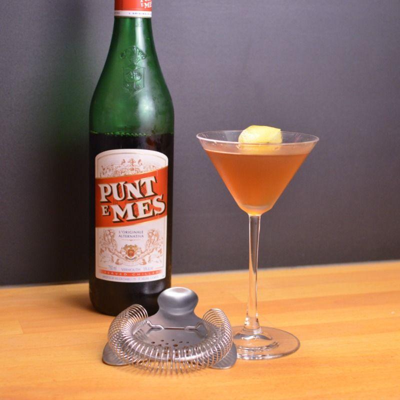 Maximilian Affair - Powered by @ultimaterecipe Ingredients 1 oz Mescal (We used Sanka) 1 oz Elderflower Liqueur (We used St. Germain) 1/2 oz Punt e Mes 1/4 oz Lemon Juice