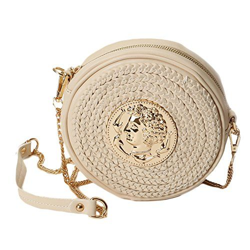 Zarapack Womens Pu Leather Round Shoulder Bag White -- You can get more  details by clicking on the image. 5e3a84326fac