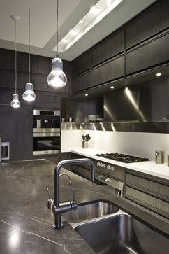 Interesting Hood Incorporated Into Shelving Timeline By Aster Cucine    Contemporary   Kitchen   New York Gallery