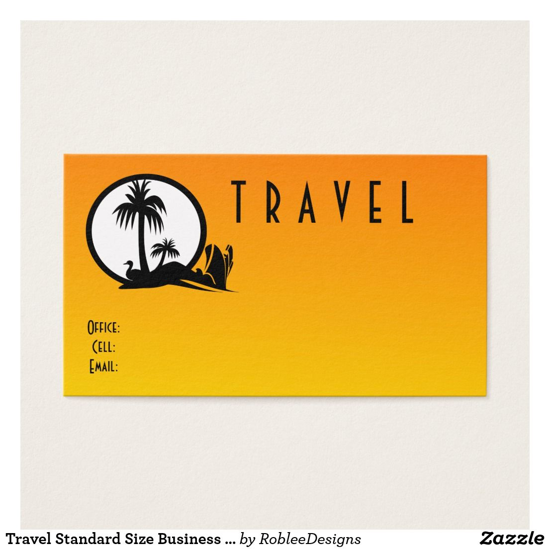 Travel Standard Size Business Card | Zazzle.com/robleedesigns ...