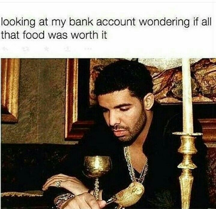 Story of my life....if I had a bank account!
