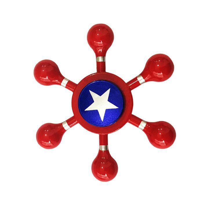 Captain America Spinner Metal Hand Fid Spinners Super Hero EDC