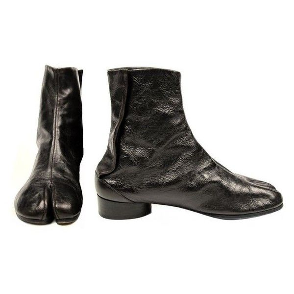 Pre Owned Martin Margiela Tabi Boots (790 CAD) ❤ Liked On Polyvore Featuring