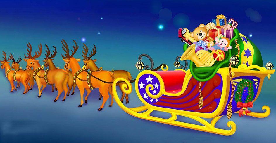 Global Winter Wonderland Santa's Sleigh. In Sacramento