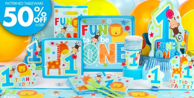 Wild at One Boys 1st Birthday Party Supplies Party City First