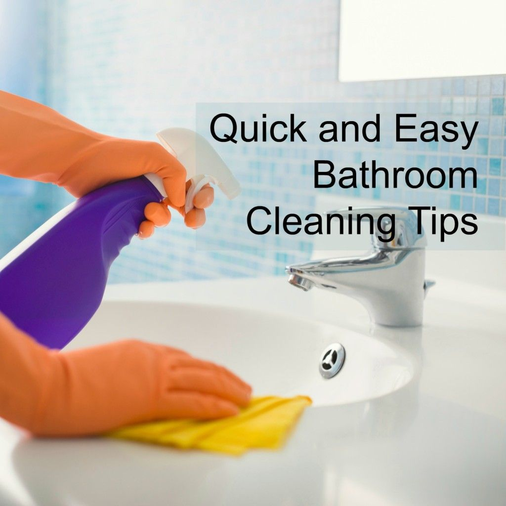 Quick and Easy Bathroom Cleaning Tips. Keep your bathroom clean with small, simple daily steps.