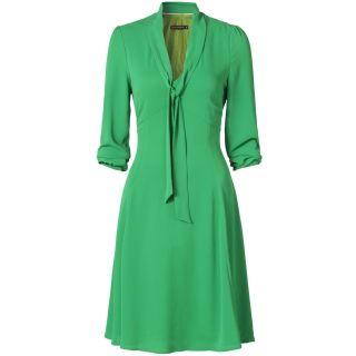 Groen met zwart gestreepte jurk