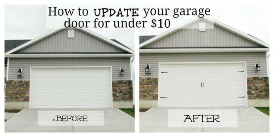 How To Update Your Garage Door For Under 10 Carriage Style