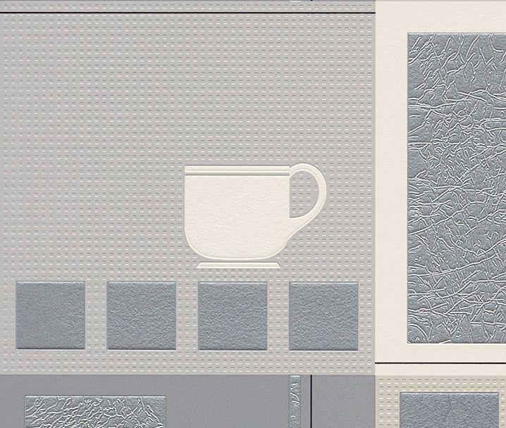 Papel pintado para cocinas y ba o lavable rasch aqua deco papel pintado super lavable ambientado - Papel pintado lavable ...
