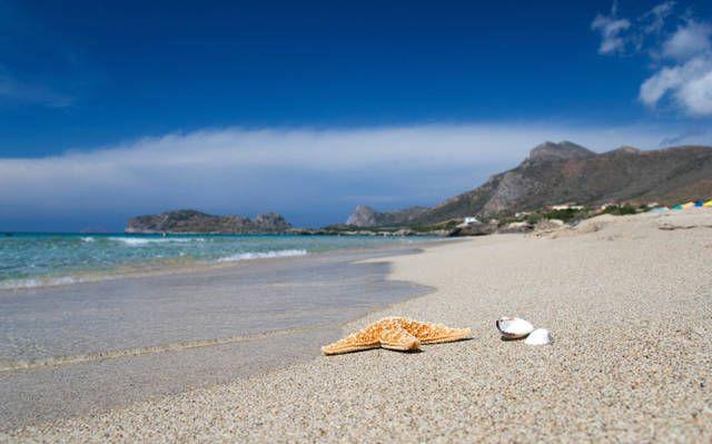 Xerokambos , a 47 Km da Sitìa ; è costituita da un complesso di spiagge  isolate .   [Non Visitato]