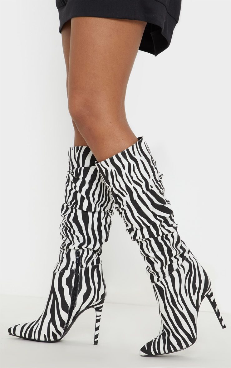 48c9dfffed34 Zebra Slouch High Point Knee Boot in 2019 | Products | Zebra heels ...