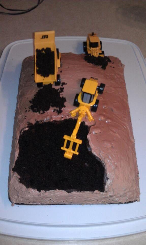 Boys Birthday Cake Construction Cake Kids Party Ideas Pinterest